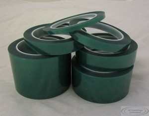 "1/4"" x 72 Yds 2 Mil Green Polyester Tape 400F"